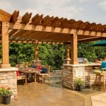 Pergola Outdoor Kitchen by BN Builders